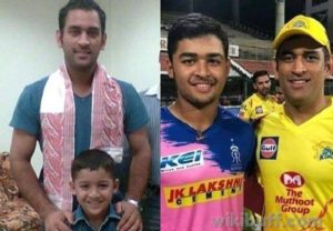 Riyan-Parag-with-Dhoni-when-he-was-six-years-old-vs-now