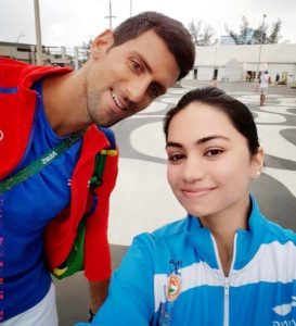 Apurvi-chandela-with-Novak-Djokovic