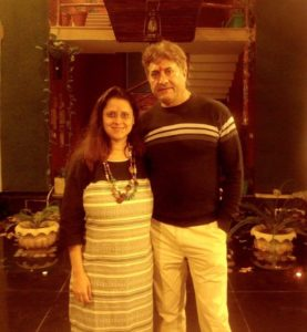Sarvadaman Banerjee with the founder of Pankh